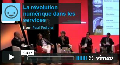 """Vidéo de la table ronde """"La révolution numérique des services"""""""